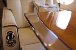 Global Express - table edge detail