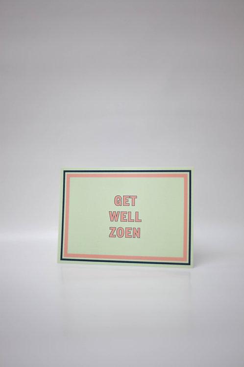 """Postkaart """"ZOEN"""" (7 stuks)"""