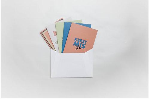 Diverse kerstkaartjes (5 stuks) met envelop
