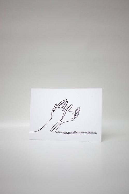 "Postkaart ""ZORG"" (7 stuks)"