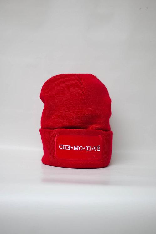 Muts (rood met wit opschrift)