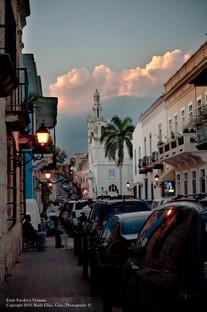 Sunset at Hostos St