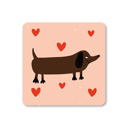 Sausage Dog Coaster (x6) CSTR18