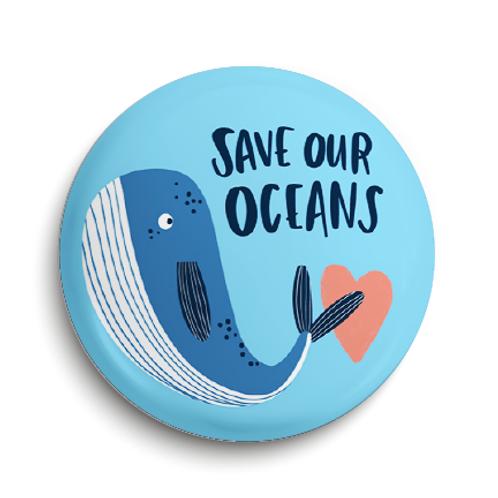 Oceans Pin Badge (x6) BDG7