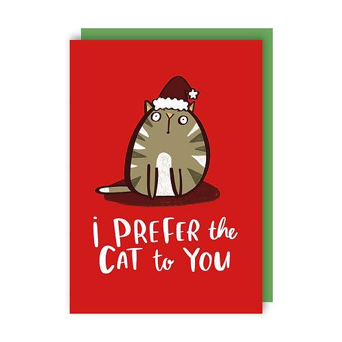 Prefer the Cat Christmas (x6) 762018