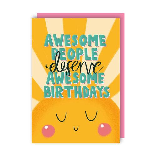 Awesome Birthdays (x6) 7920
