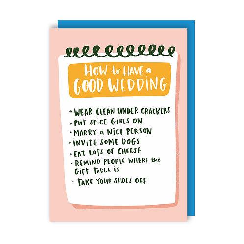 Good Wedding (x6) 1619