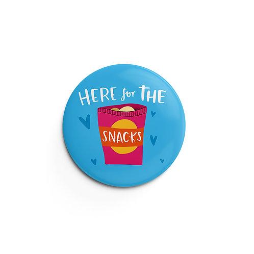 Snacks Pin Badge (x6) BDG21