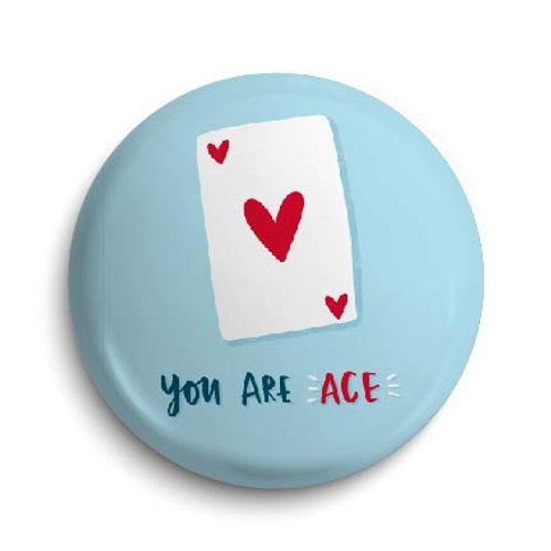 Ace Pin Badge (x6) BDG30