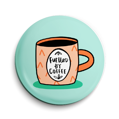 Coffee Pin Badge (x6) BDG4