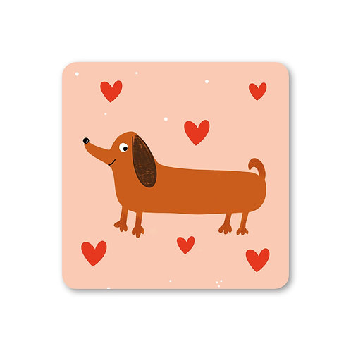 Sausage Dog Coaster (x6) CSTR17