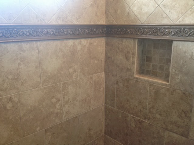 Shower Accent strip and nitch
