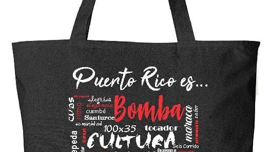 Black Bomba Bag with pocket inside (Words)