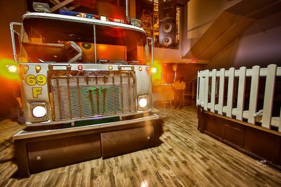DJ booth firetruck