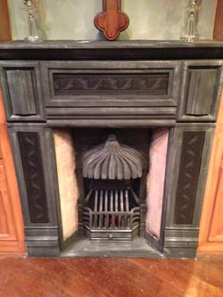 1880's coal fireplace prop