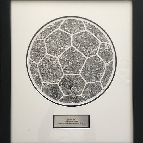 Have a Ball (2017) | Manchester City Football Club | 60cm x 52cm framed