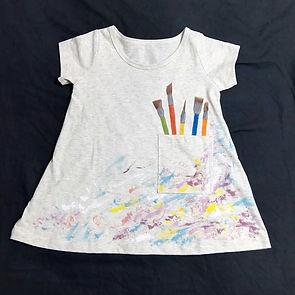 子育て応援券 布絵の具 お絵描きTシャツ 手形動物 足型