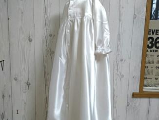 ウェディングドレスからベビードレスへのリメイク完成!!