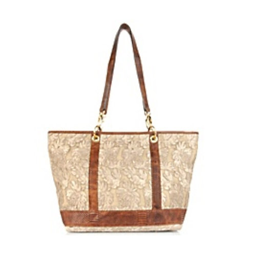 Castle Lace and leather Tote