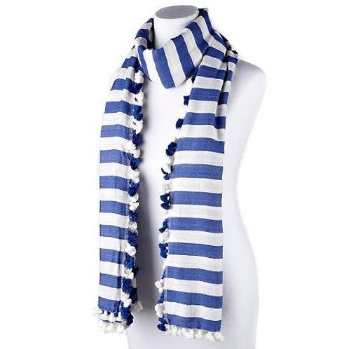 Stripe Tassel Cotton Scarf