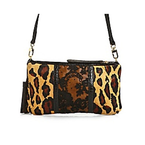 Leopard / Red Lace Petite Crossbody Mini bag