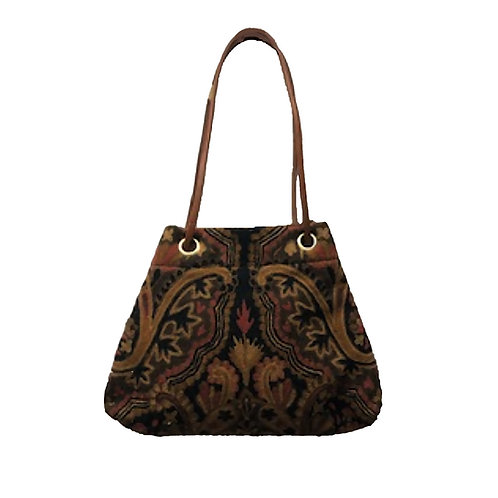 Crewel Embroidered Carpet Bag