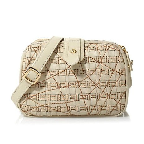 HAND INTERWOVEN LEATHER CROSSBODY