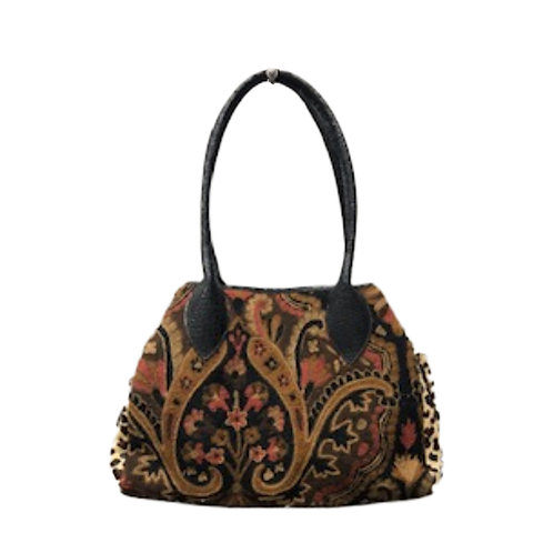 Crewel Embroidered Satchel