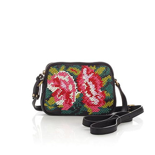 Leather Embroidered Crossbody