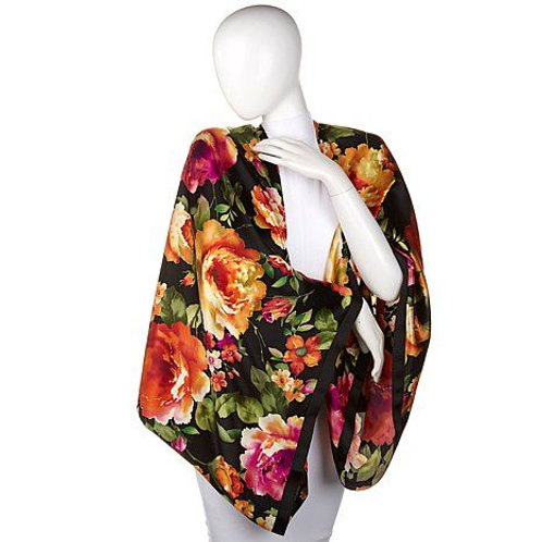 Garden Rose Silk Magic Wrap