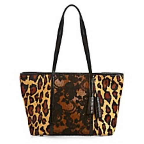 Leopard / Red Lace Petite Tote