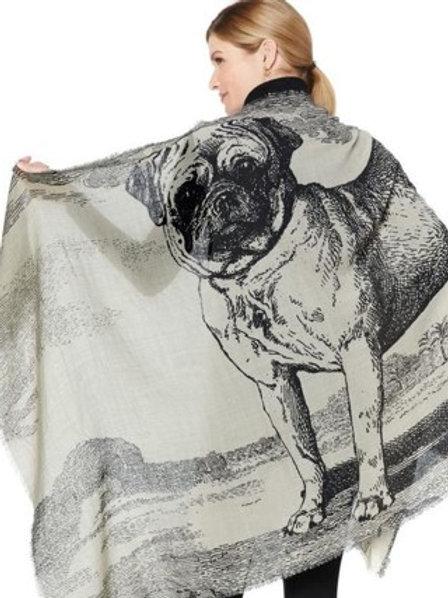 Royal Pug Painting Scarf