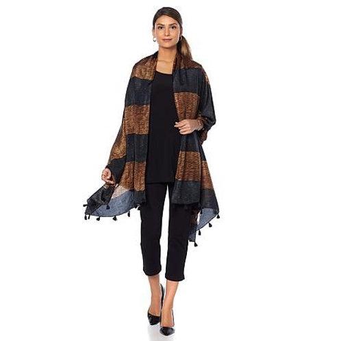 Knit Print Silk Scarf