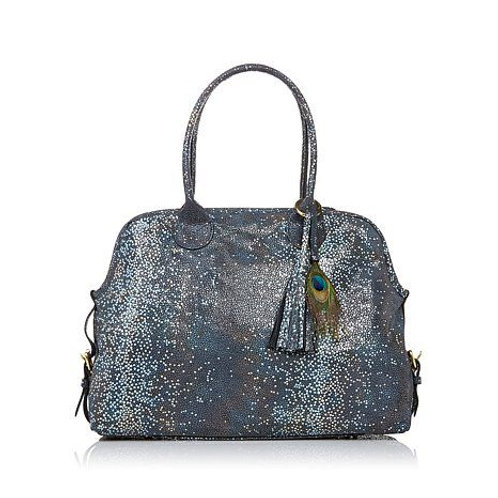 Embossed Leather Stingray Satchel