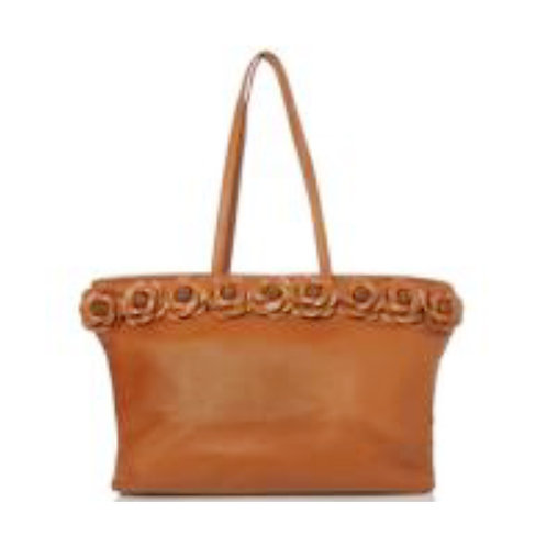 Handcrafted Leather Rose Tote