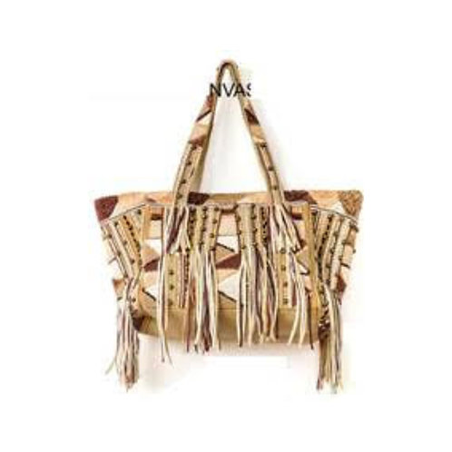 Fringe Tote with Studs