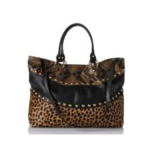 Leopard / Red Lace Petite Tote