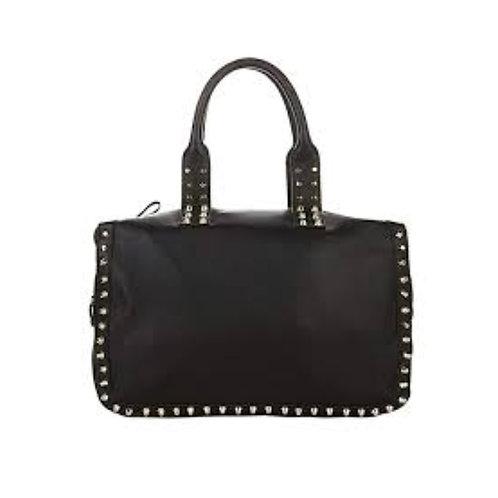 Studded Leather Satchel