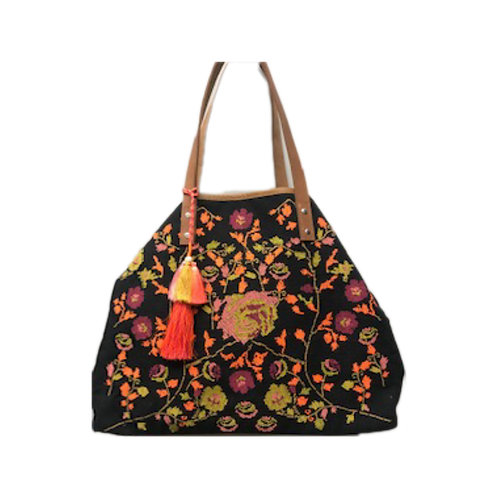 Floral Embroidered Shopper