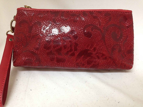 Venetian Rose Top Zip Clutch