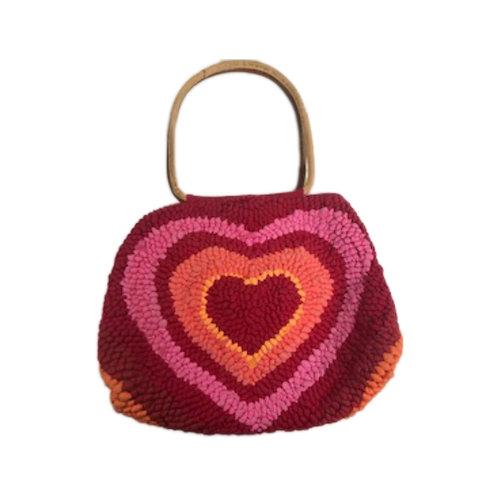 Heart Knitted Mini Hobo