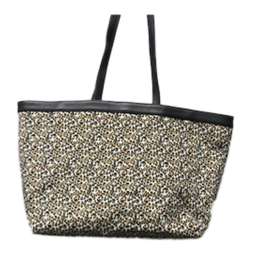 Leopard Printed Leather Tote