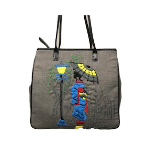 Crewel Embroidered Satchel