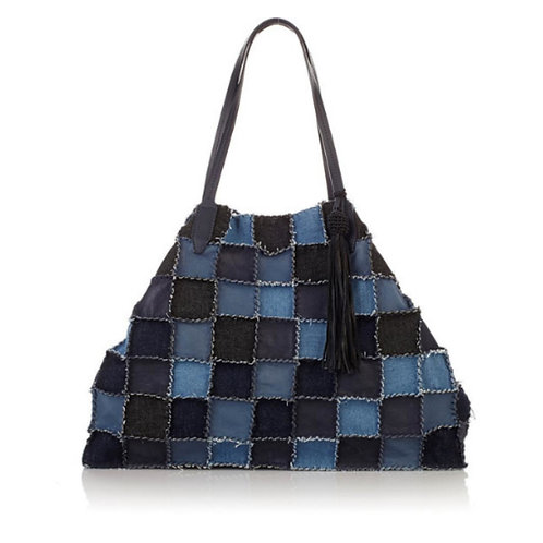 Denim Patchwork Shopper