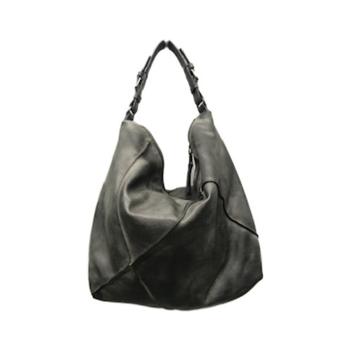 Antique Leather Drawstring Hobo