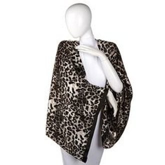 Leopard/Ivory Silk Magic Wrap