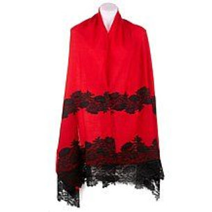 Hand-Applique Wool Lace Scarves