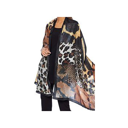 SAFARI PRINTED SILK SCARF