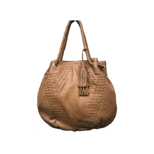 Leather Crafted Hobo with Tassel