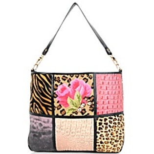 Safari Rose Patchwork Satchel